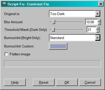 Contrast Fix Input with Threshold